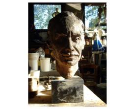 Bijgewerkt brons beeld