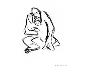 Aap in Artis . 1989 . krijt . 24x16