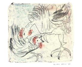 Hanengevecht . 1996 . 13x14