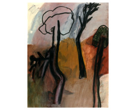 Bomen . 1986 . 65x50