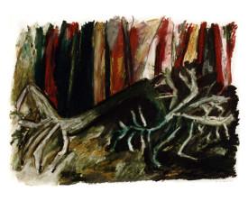 Bomen . 1990 . 50x65