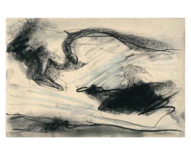 Wolkenlucht Drunense duinen . 1983 . 20x30