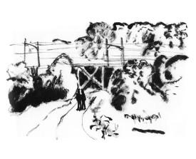 Overveen . 2000 . inkt . 14x22
