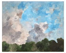 Wolken . 1991 . olie op linnen . 50x60