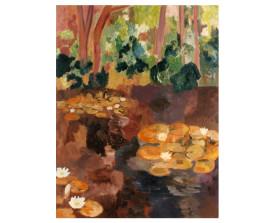 Waterlelies, Overveen . 1993 . olie op linnen . 145x110