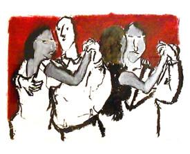 Buenos Aires tangoparen . 2000 . 50x65