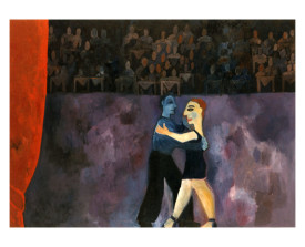 Buenos Aires - 'het optreden' . 1992 . olie op linnen . 110x150