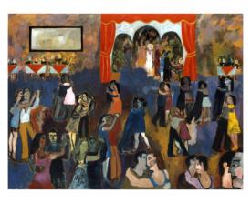 Buenos Aires tangosalon . 1992 . olie op linnen . 110x145