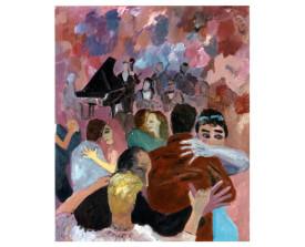Buenos Aires tangosalon . 1993 . olie op linnen . 110x90