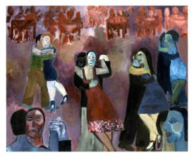 Buenos Aires tangosalon . 1993 . olie op linnen . 90x110
