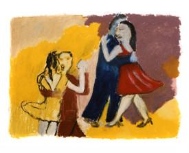 Buenos Aires tangoparen . 1992 . 50x65