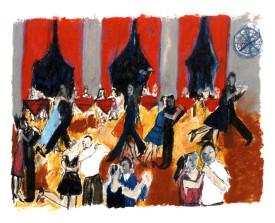 Buenos Aires tangosalon . 1992 . 50x65