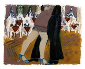 Buenos Aires tangopaar . 1992 . 50x65
