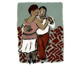 Tangopaar . 2000 . 65x50