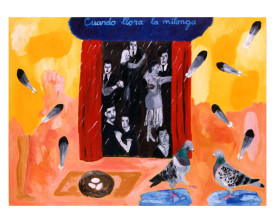 'Cuando llora la milonga' . 1999 . olie op linnen . 110x150