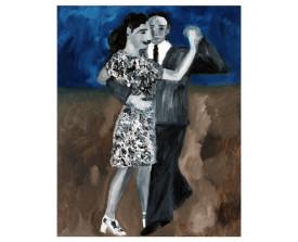 Buenos Aires tangopaar . 1996 . olie op linnen . 50x40