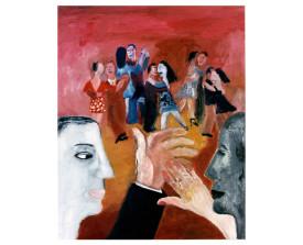 Buenos Aires tangosalon . 1992 . olie op linnen . 100x80