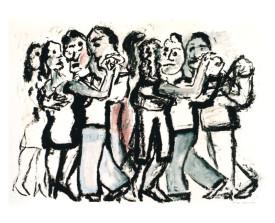 Buenos Aires tangosalon . 2000 . 50x65