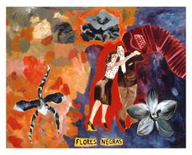 Flores Negras . 2002 . olie op linnen . 110x140