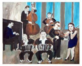Sexteto Canyengue (25 jaar) . 2013 . acryl op linnen . 50x60