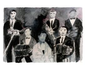 Orquesta típica el Greco . 1993 . 50x65