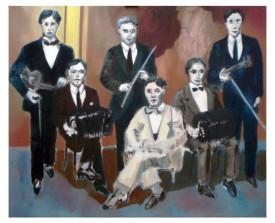 Orquesta típica el Greco . 2013 . olie op linnen . 90x110