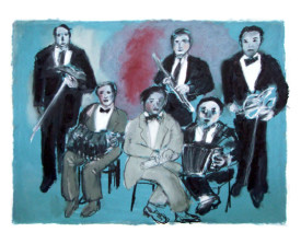 Orquesta típica el Greco . 2010 . 50x65