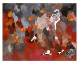 Tango canyengue . 1998 . olie op linnen . 110x140