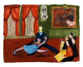 Buenos Aires - tango fantasía . 1992 . 50x65