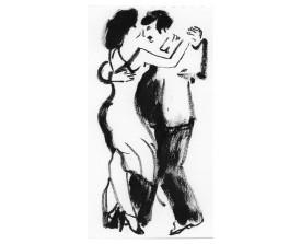 Buenos Aires tangopaar . 2005 . inkt . 20x15