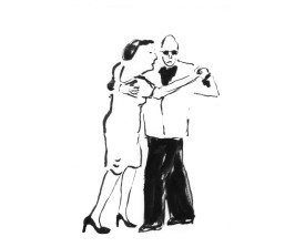 Buenos Aires tangopaar . 2008 . inkt . 18x12