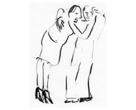 Buenos Aires tangopaar . 2000 . krijt . 27x20