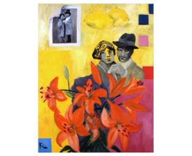 Buenos Aires tangopaar . 1996 . olie op linnen . 90x70