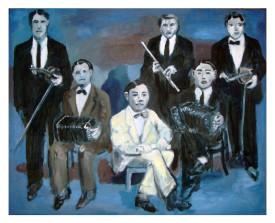 Orquesta típica el Greco . 2011 . olie op linnen . 80x100