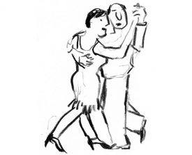 tangopaar . 2000 . krijt . 27x20